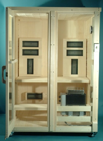 Heavenly Heat Saunas Combination Infrared Ceramic Sauna