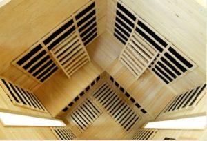 Vital Health Saunas 3 person corner overhead